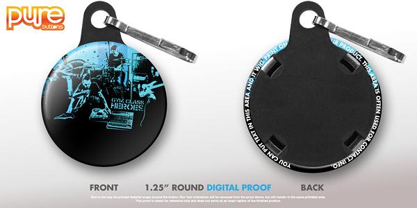 Round Custom Zipper Pull Digital Proof