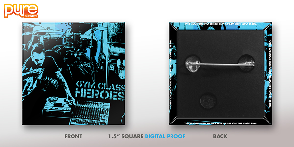 Square Custom Button Digital Proof