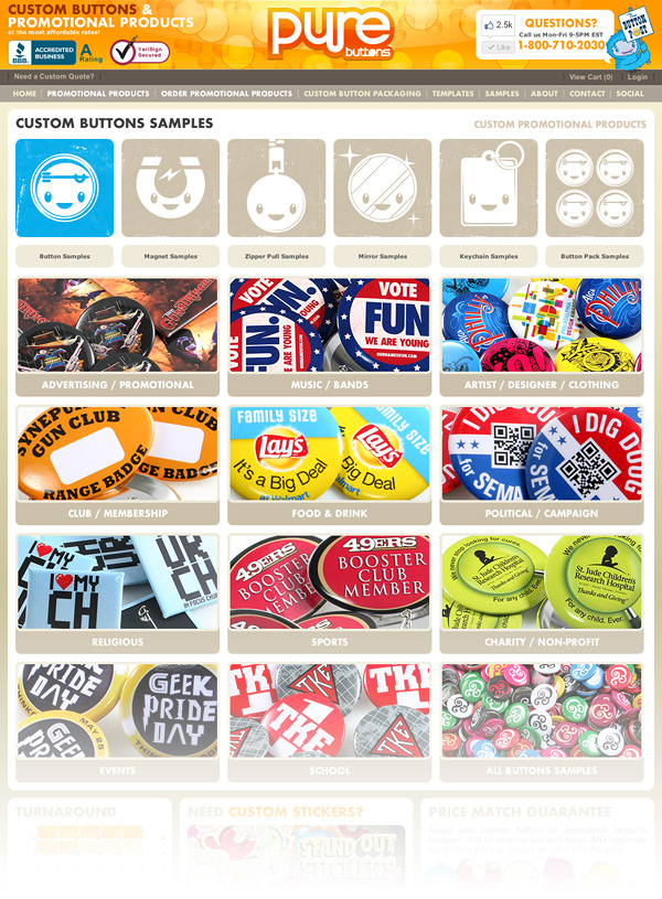 Custom Buttons Samples Galleries