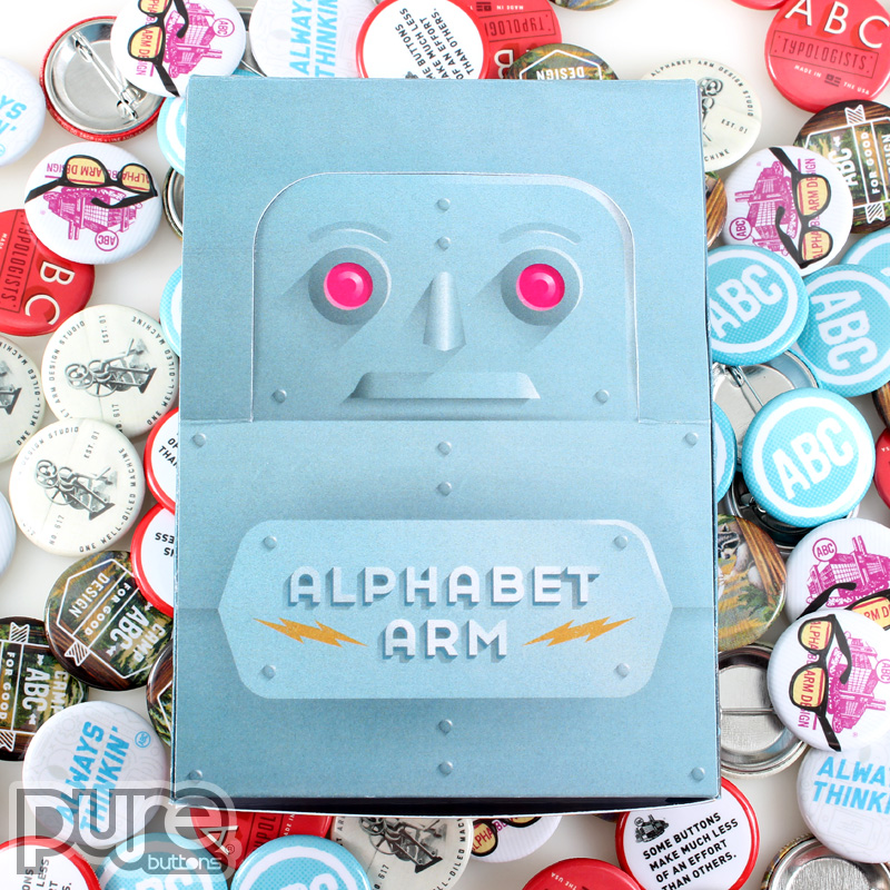 Custom Button Boxes for Alphabet Arm Design