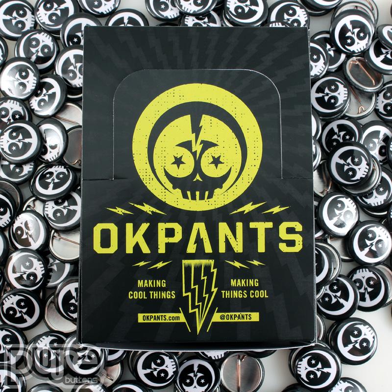 Custom Button Boxes for OKPants Design