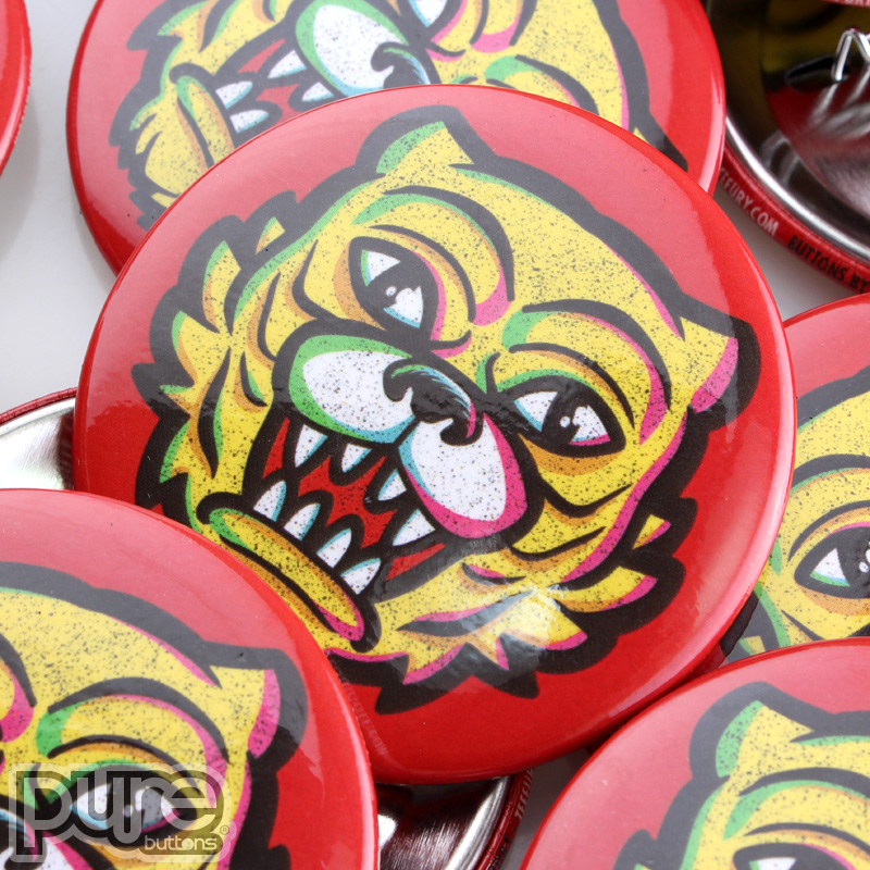 Custom Buttons at TeeFury