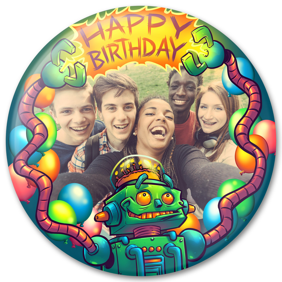 Robot Birthday Photo Gift