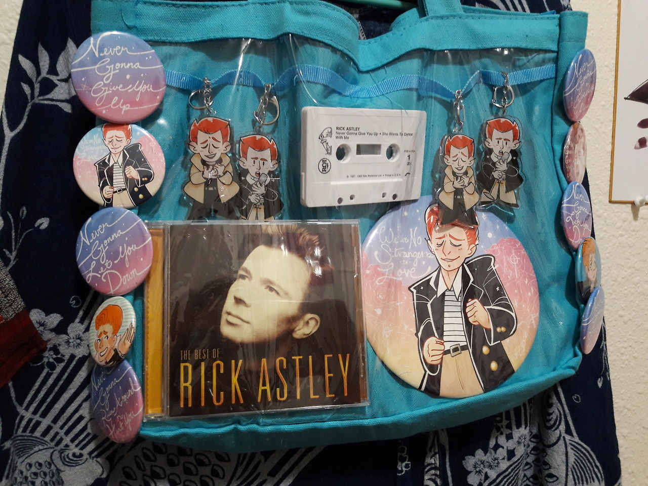 Rick Astley Fan Art Buttons