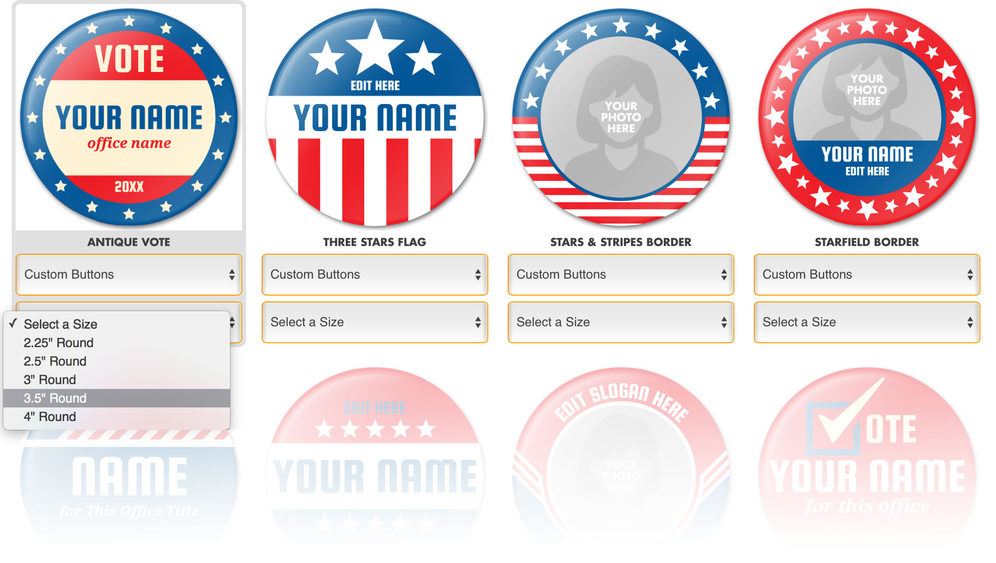 Design Campaign Buttons