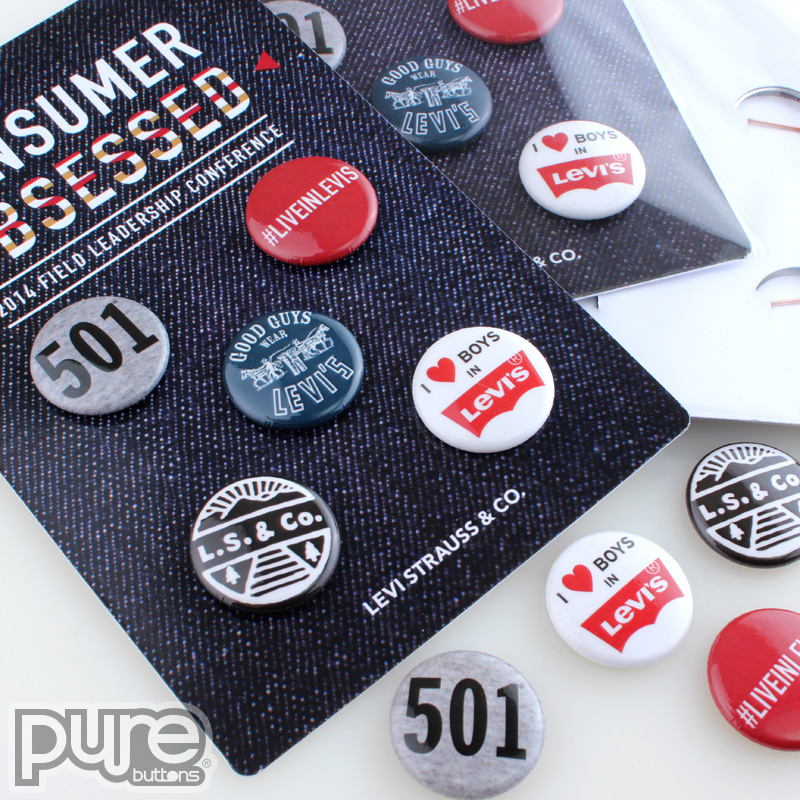 Five (5) Custom Button Packs