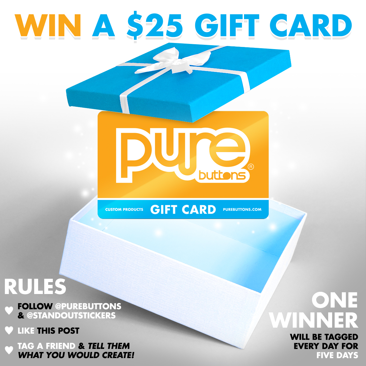 $25 Pure Buttons Gift Card Giveaway