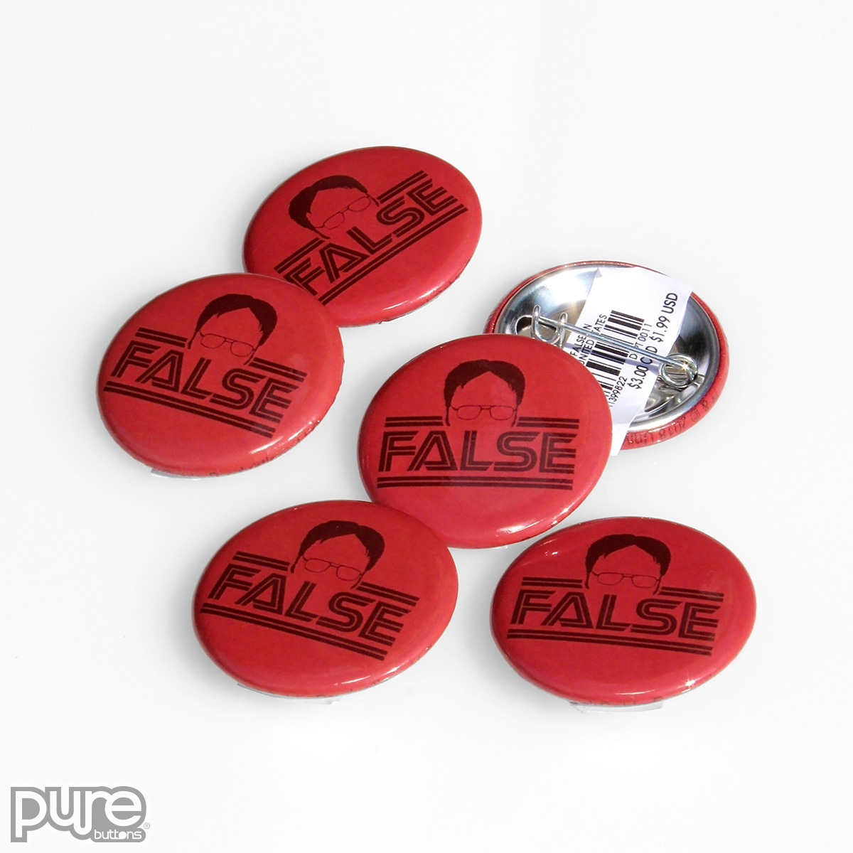 The Office NBC Official Merchandise - Dwight False Custom Buttons