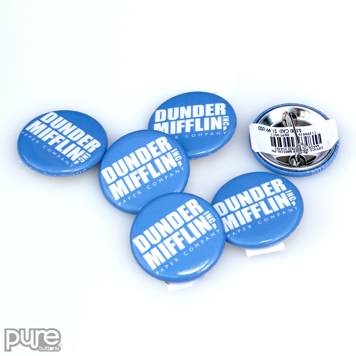 The Office NBC Official Merchandise - Dunder Mifflin Pin-Back Buttons