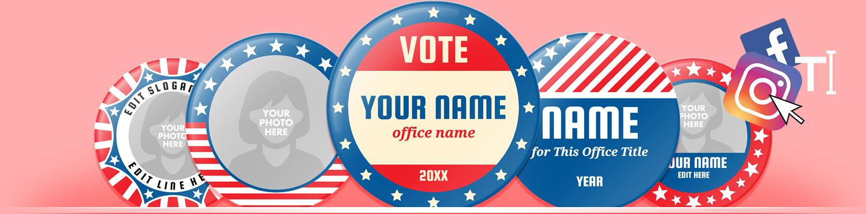 Campaign Button Designs