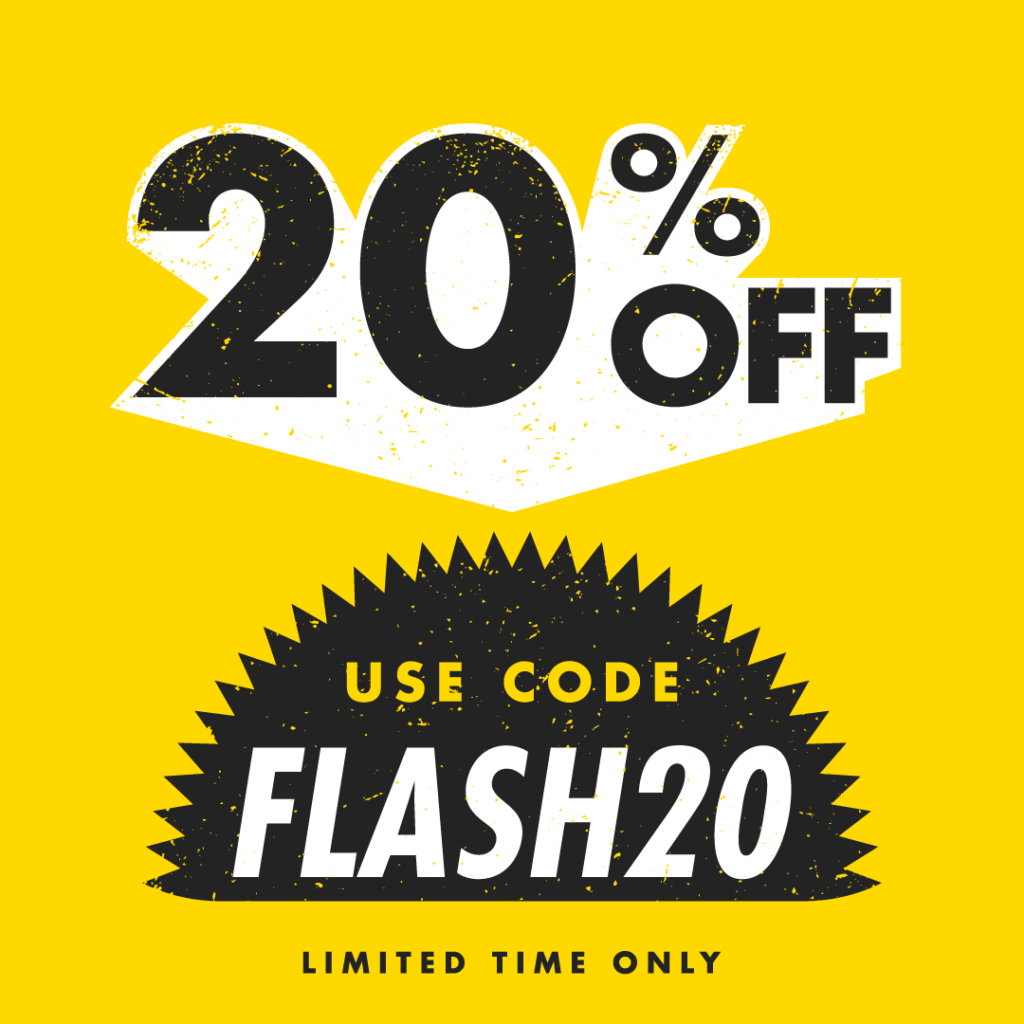 Flash sale - 20% off all custom promotional products with coupon FLASH20
