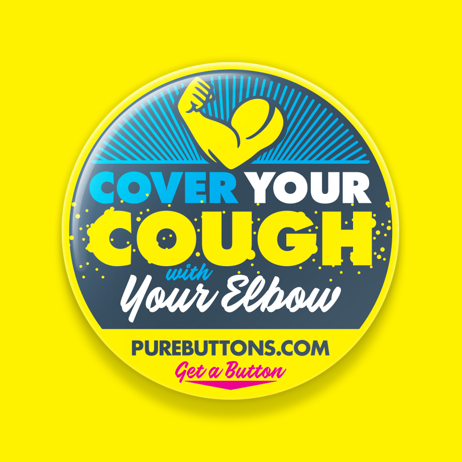 Cover Your Cough Coronavirus Awareness Button