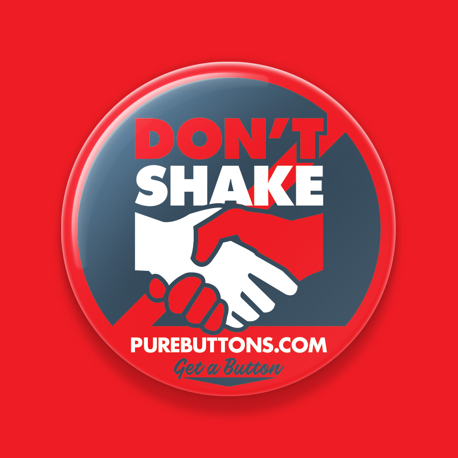Don't Shake My Hand Coronavirus Awareness Button