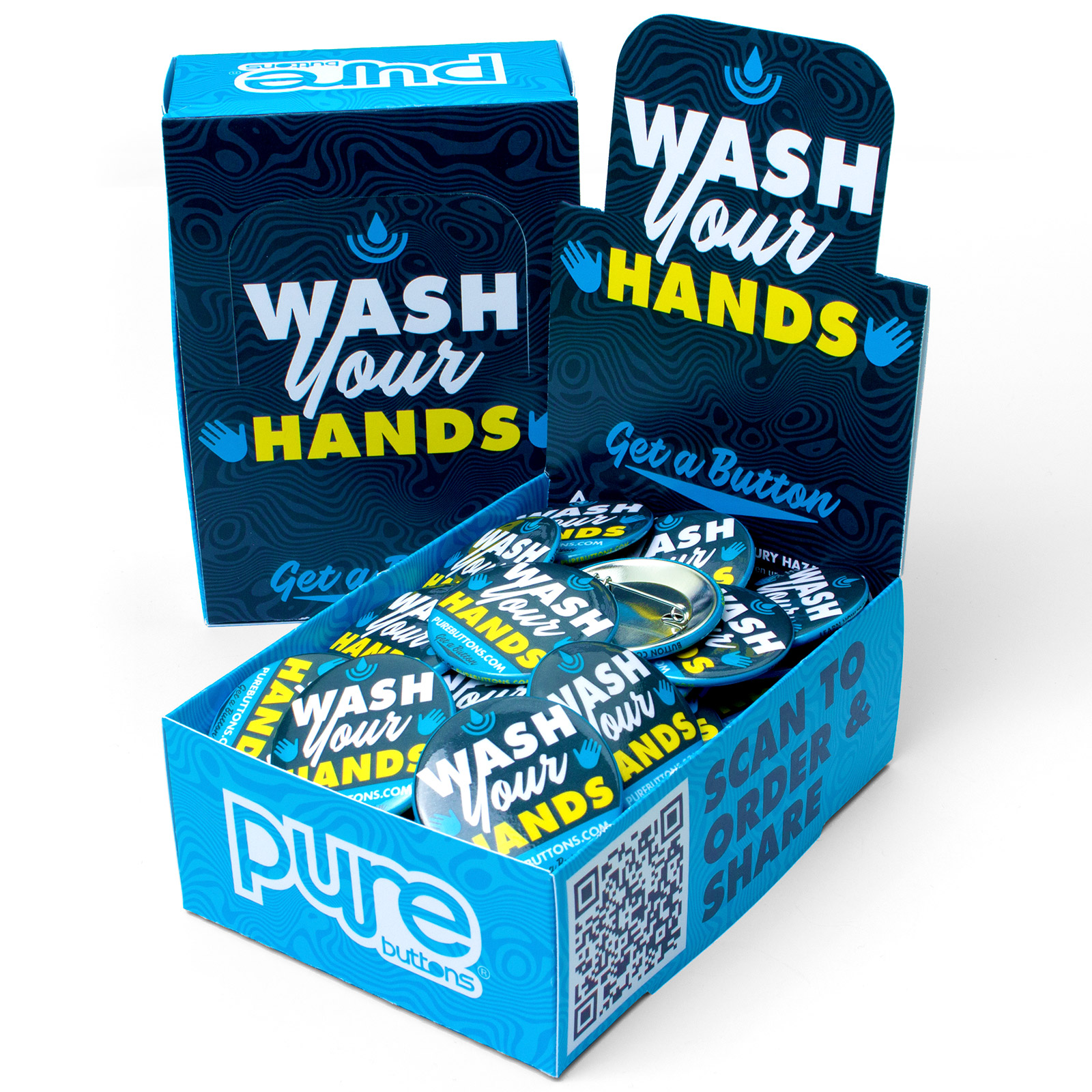 Wash Your Hands Button Box