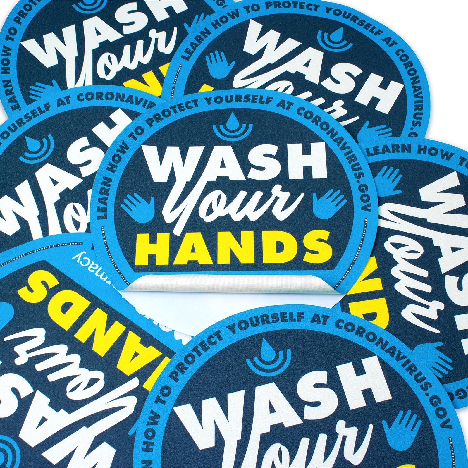 Wash Your Hands Floor Decal