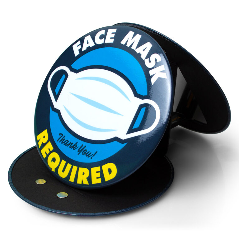 Face Mask Required Sign (Blue)