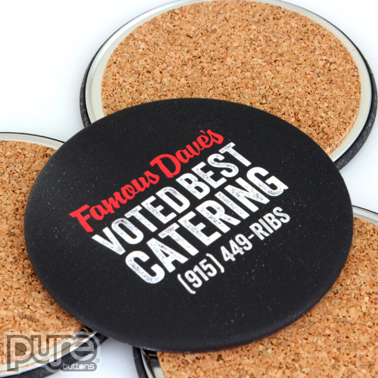 Personalized Drink Coasters for Famous Daves BBQ