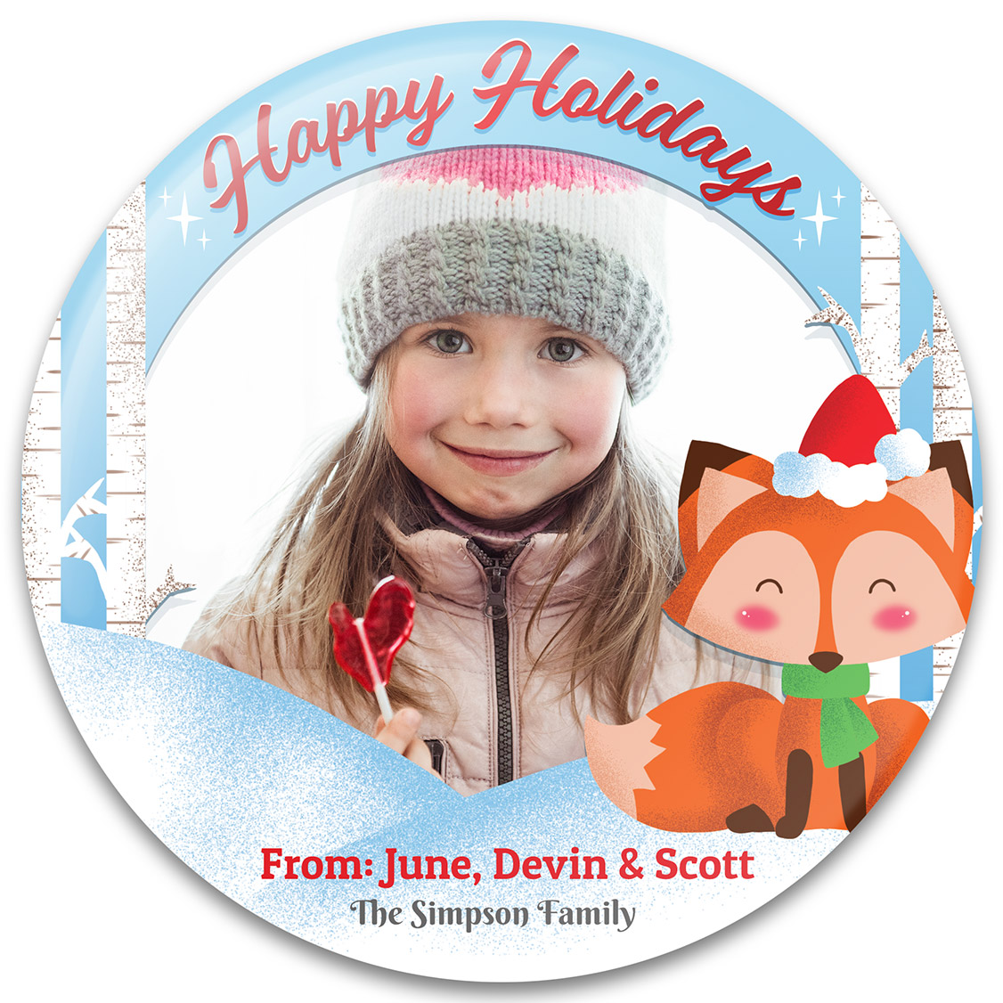 Foxy Holidays Christmas Photo Gift