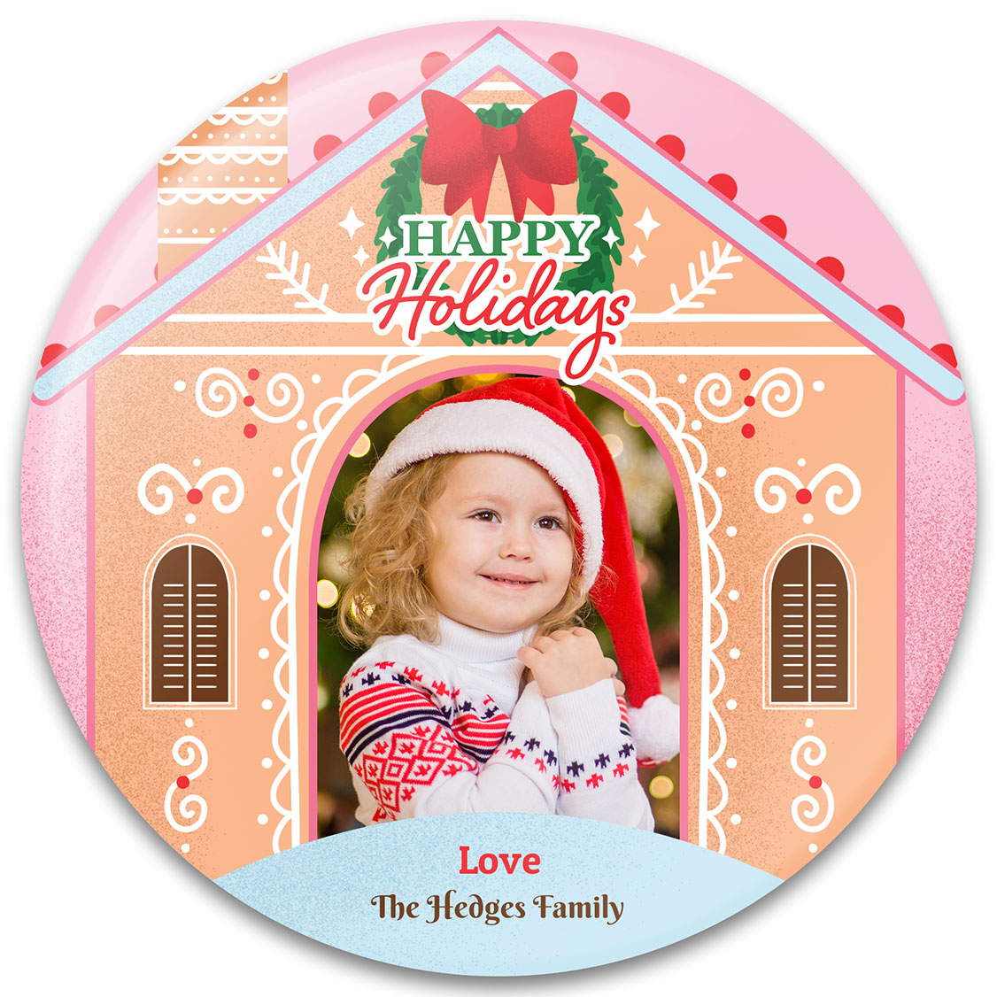 Gingerbread House Christmas Photo Gift Design