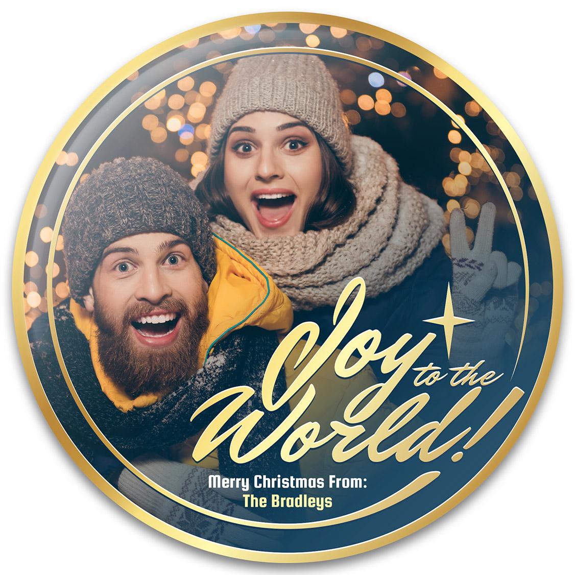 Joy to the World Christmas Photo Gift