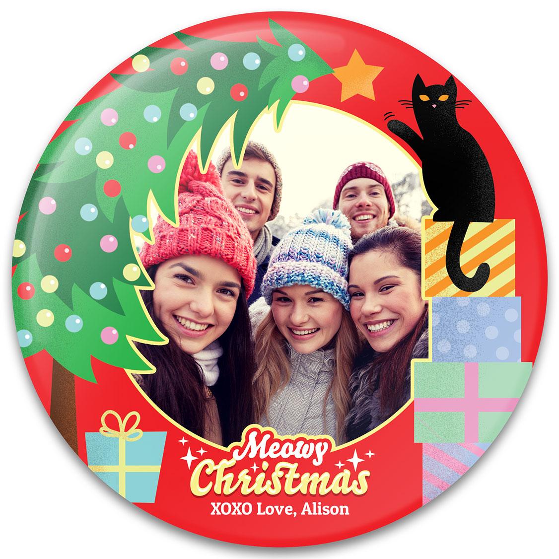 Meowy Christmas Photo Gift