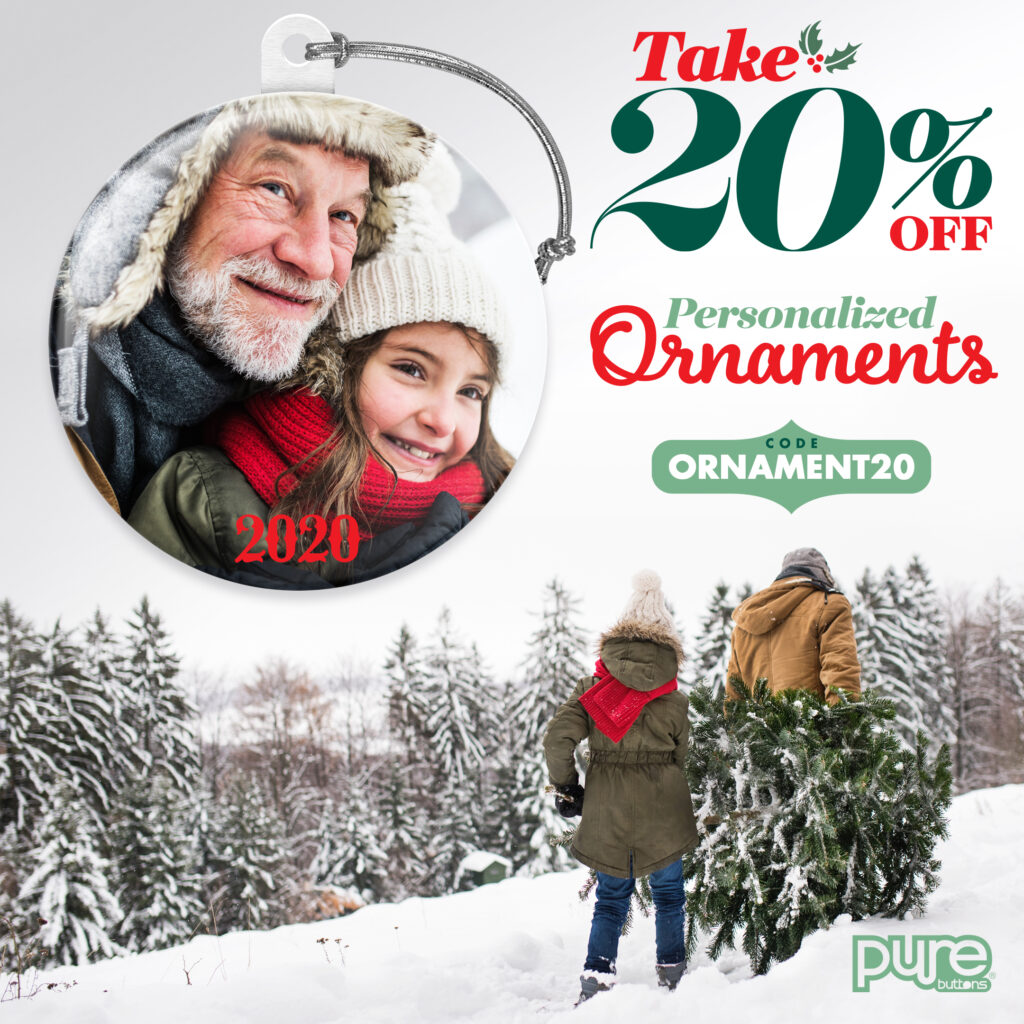 Personalized Ornaments 20% off with coupon code ORNAMENT20