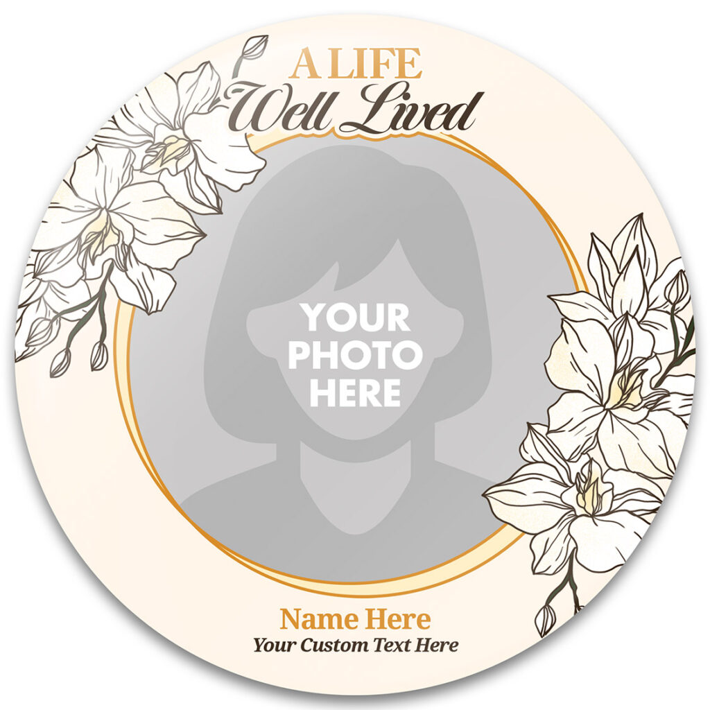 A Life Well Lived Memorial Buttons Template