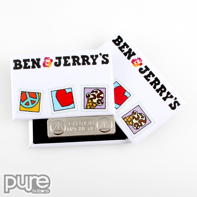 Ben & Jerry's Magnetic Name Tags