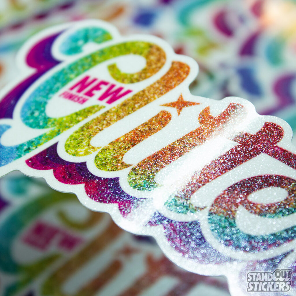 Glitter Stickers by StandOut Stickers