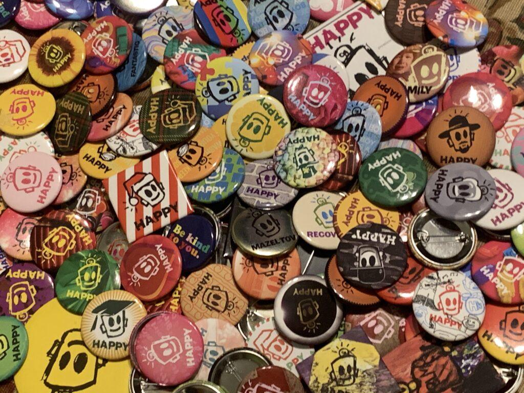 Happy Buttons by Leonard Porkchop Zimmerman