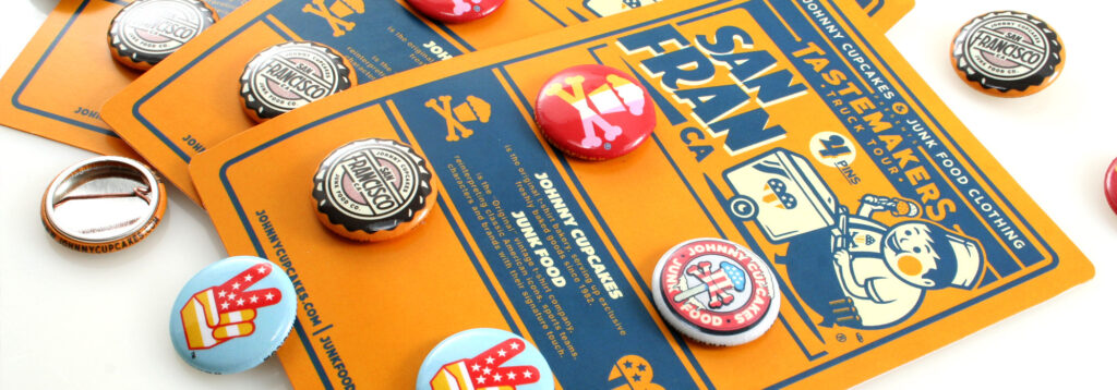 Johnny Cupcakes Custom Button Packs