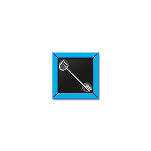 """1"""" Square Custom Button Back"""