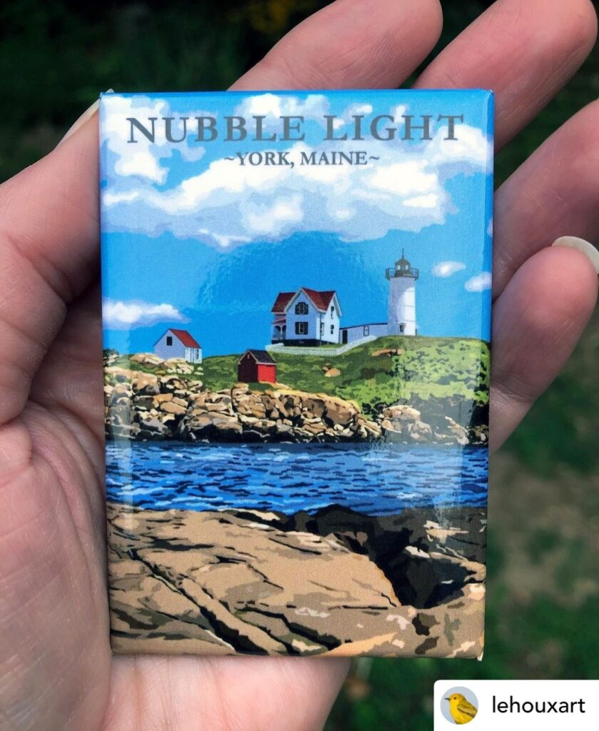 nubble light york maine souvenir magnets